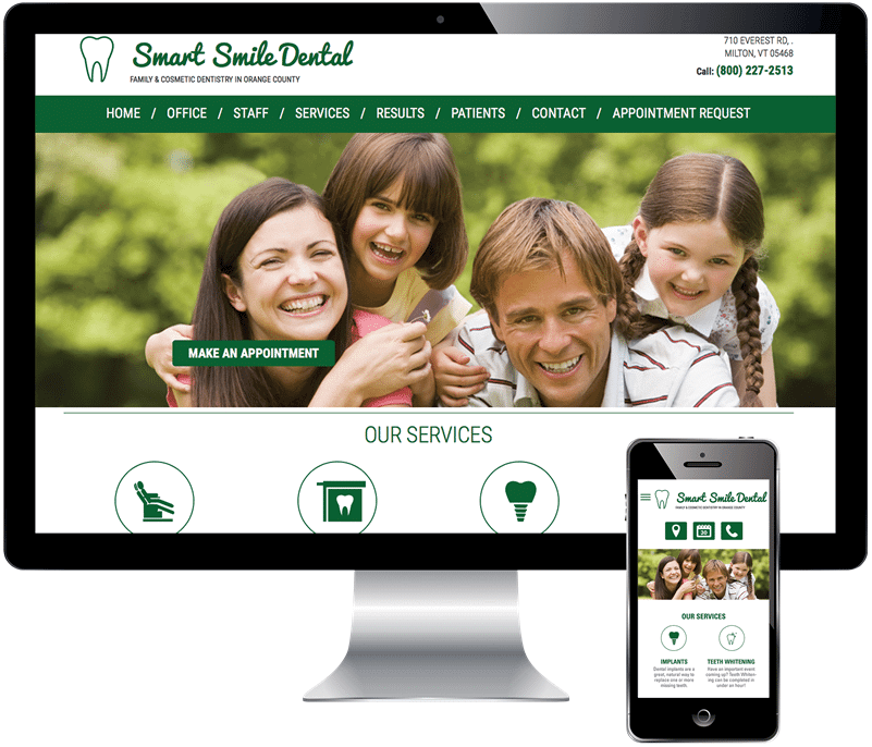 VivioSites Responsive Dental Website Design