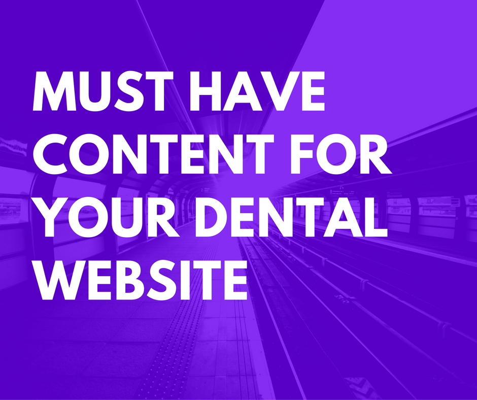 Dental Website Content