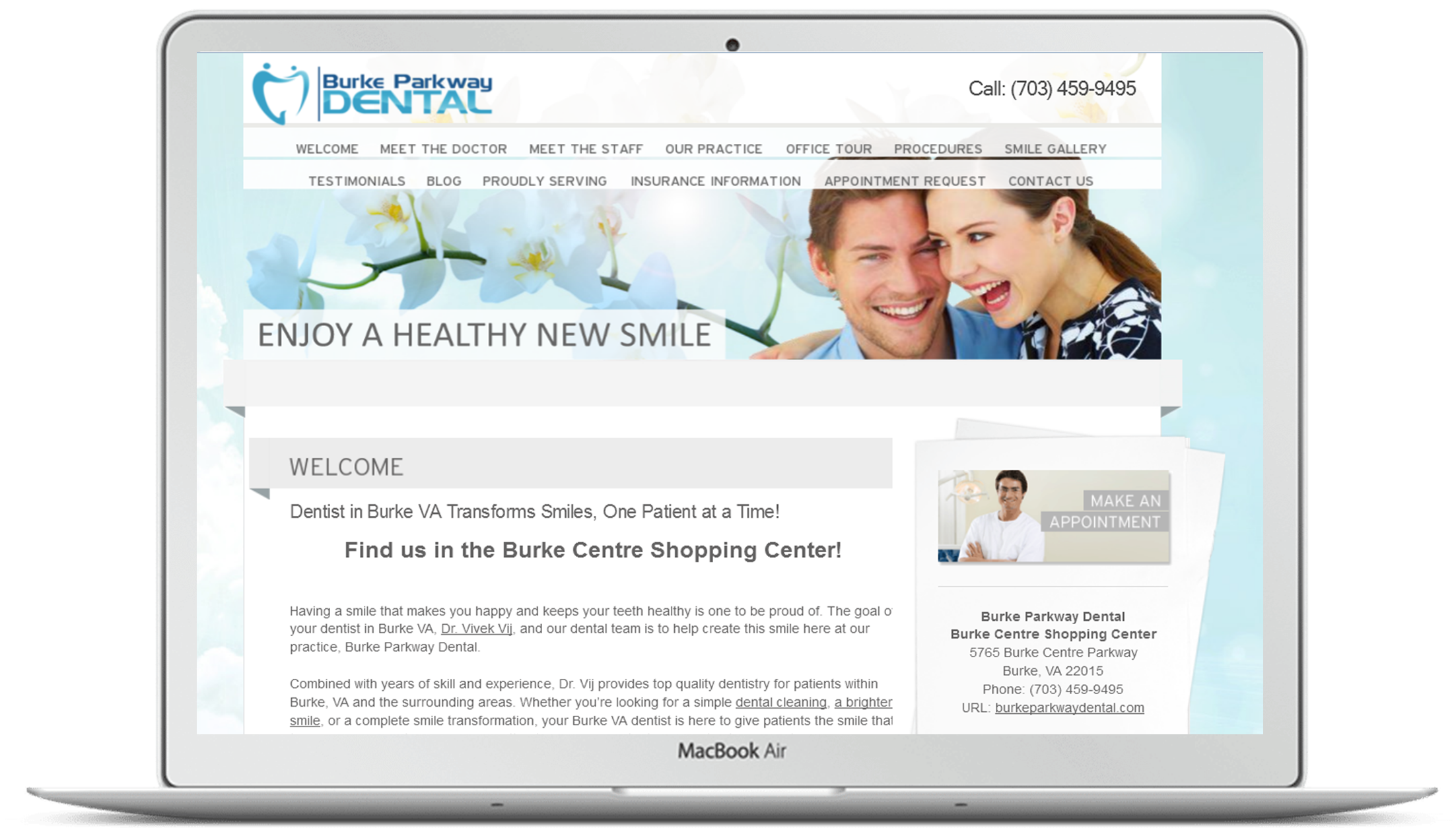 Burke VA Dentist Website Preview