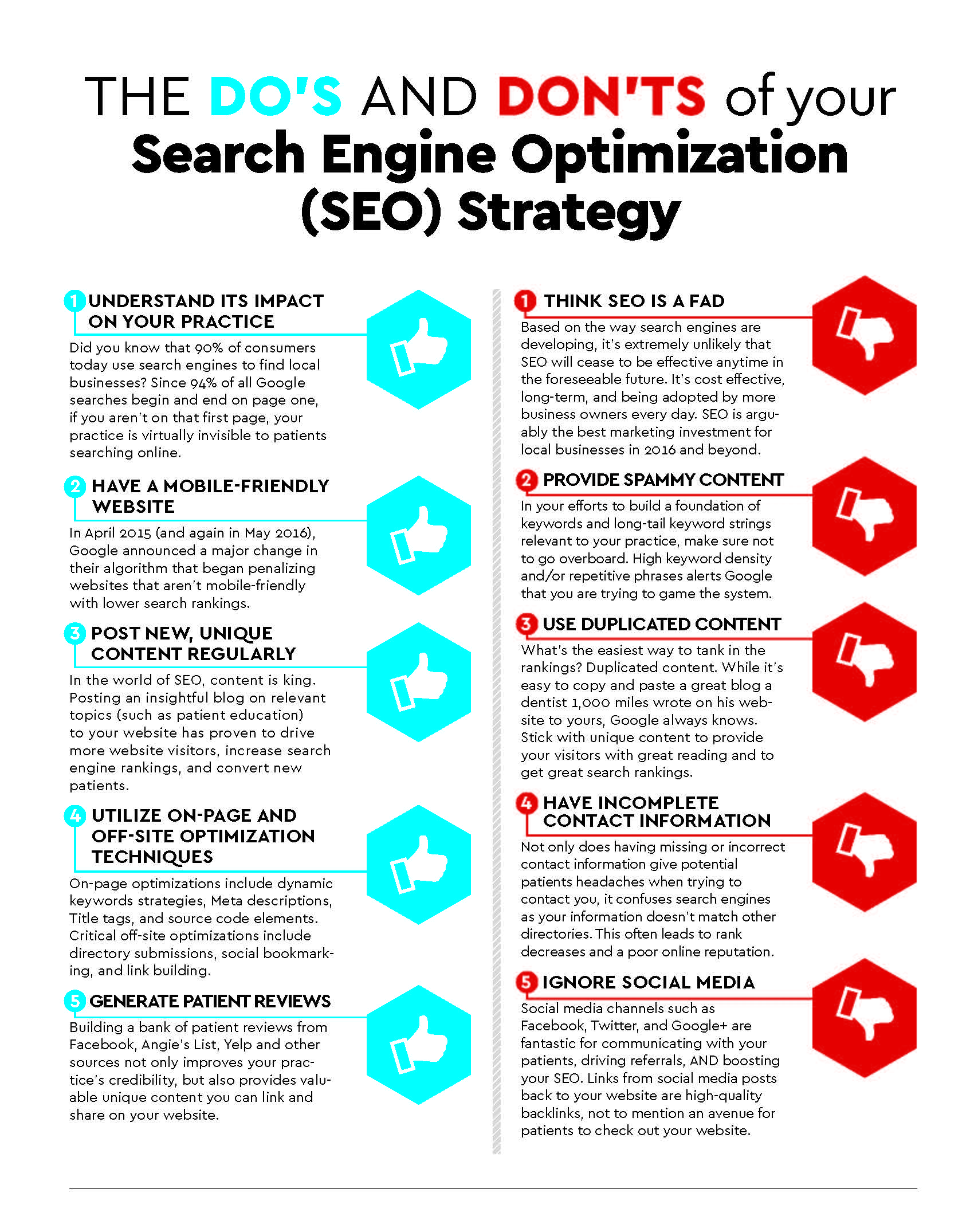 INFOGRAPHIC] Do's & Don't of Dental SEO | VivioSites